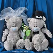 Svatební medvídci 15 modří,