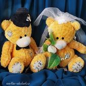Medvídci svatební 10 žlutí,