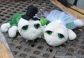 Svatební želvičky zelené 02 střední,