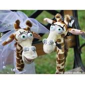 Svatební žirafy velké 01,