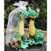 Svatební žabičky 03 vysoké,