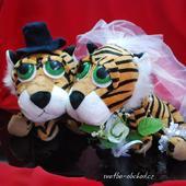 Svatební tygříci na auto 03,
