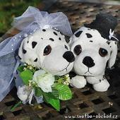 Pejskové ve svatebním 06 dalmatin,