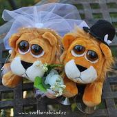 Svatební lvíčci 02 na auto,