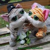 Kočičky 01 svatební výzdoba,