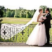 Bílý svatební závoj 350+100A,