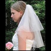 Svatební závoj 60cm + 40cm ,