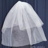 Svatební závojíček 70cm + 50cm,