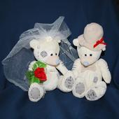 Svatební medvídci 14A šampáň,