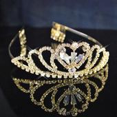 Svatební korunka 65 zlatý kov,
