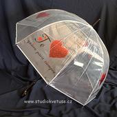 Deštníček 05 průhledný s potiskem,