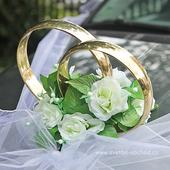 Prsteny na auto 14 bílé růže,