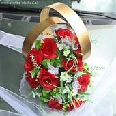 Prsteny na auto XXL 01 rudé růže,