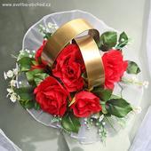 Prsteny na auto 03 červené růže,
