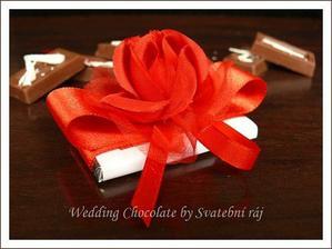čokoládky pro hosty....