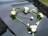 ozdoba na auto, ale kytky budou slunečnice