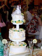 naša tortička a poháre