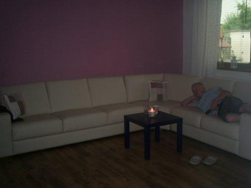 Rekonstrukce vily vilekuly:-) - sedačka, televizního maniaka si nevšímejte...