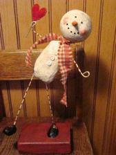zůstavší sněhulák z Vánoc, adaptovaný na Valentýna:-)