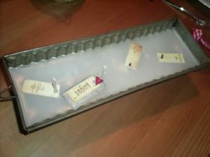 vlastní výroba adventního svícnu ze starého srnčího hřbetu:-)