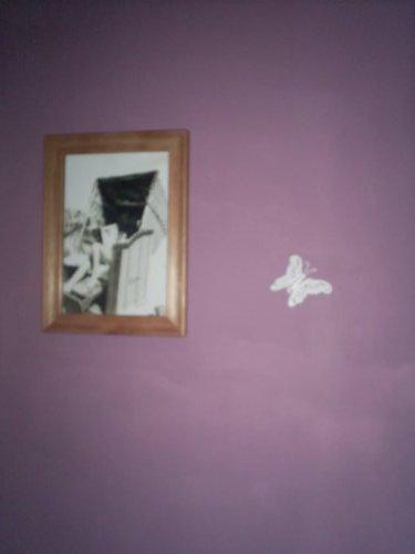 Vánoce u nás v Bullerbynu - naše stěna na wc