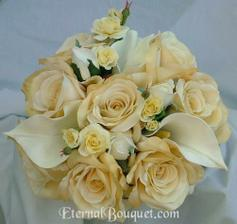 Růže s kalami jsou krásné, ale chtěla bych jinou barvu