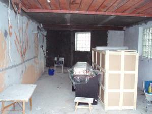 20.5.2010 poslední fáze štukování-garáž