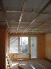 6.2.2010 obývák s konstrukcí na sádrokarton.