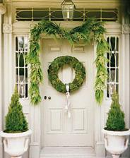 Tak v takovém duchu bych si představovala vstupní dveře, akorát v hnědé barvě.