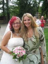 Na svatbě má kamarádky, doufám, že budu také taková krásná nevěsta.