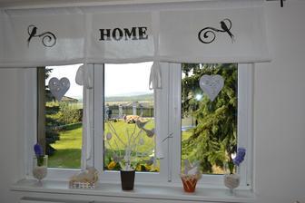 Pohled z okna na zahradu