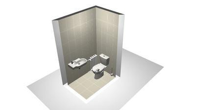 Záchod jen jednoduše, je maličká a bude tam umyvadlo, topení, ručník atd.