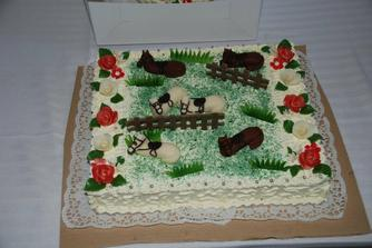 náš dortík, pobavil i skvěle chutnal