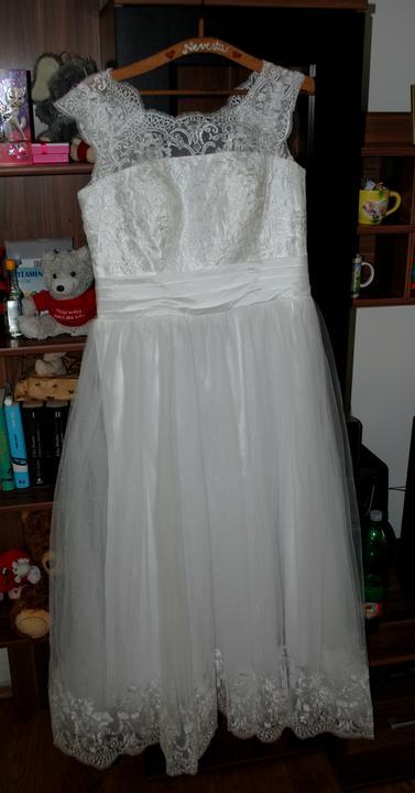 Svadobné šaty veľkost 42-44-46 - Obrázok č. 1