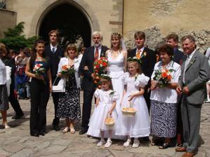 Foto s rodiči, svědky a sourozenci