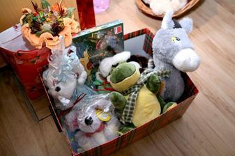 hračky, ktoré sme si vyžiadali namiesto kvetín sme darovali detskému domovu a detskému nemocničnému oddeleniu