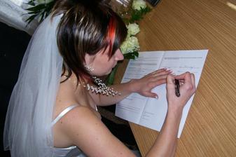 Podpis nevěstin