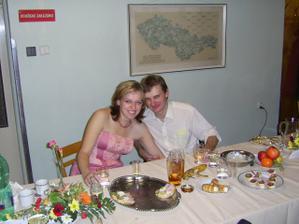 Jaruška s přítelem Martinem
