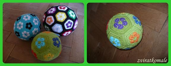 zelený míček