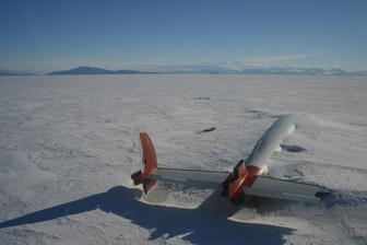 The remains of the Pegasus in McMurdo Sound, Antarctica