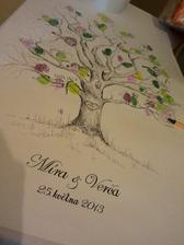 Parádní strom - kreslila svědkyně a moc se povedl :-)