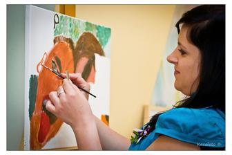 malování obrazu.. když jsme se fotili