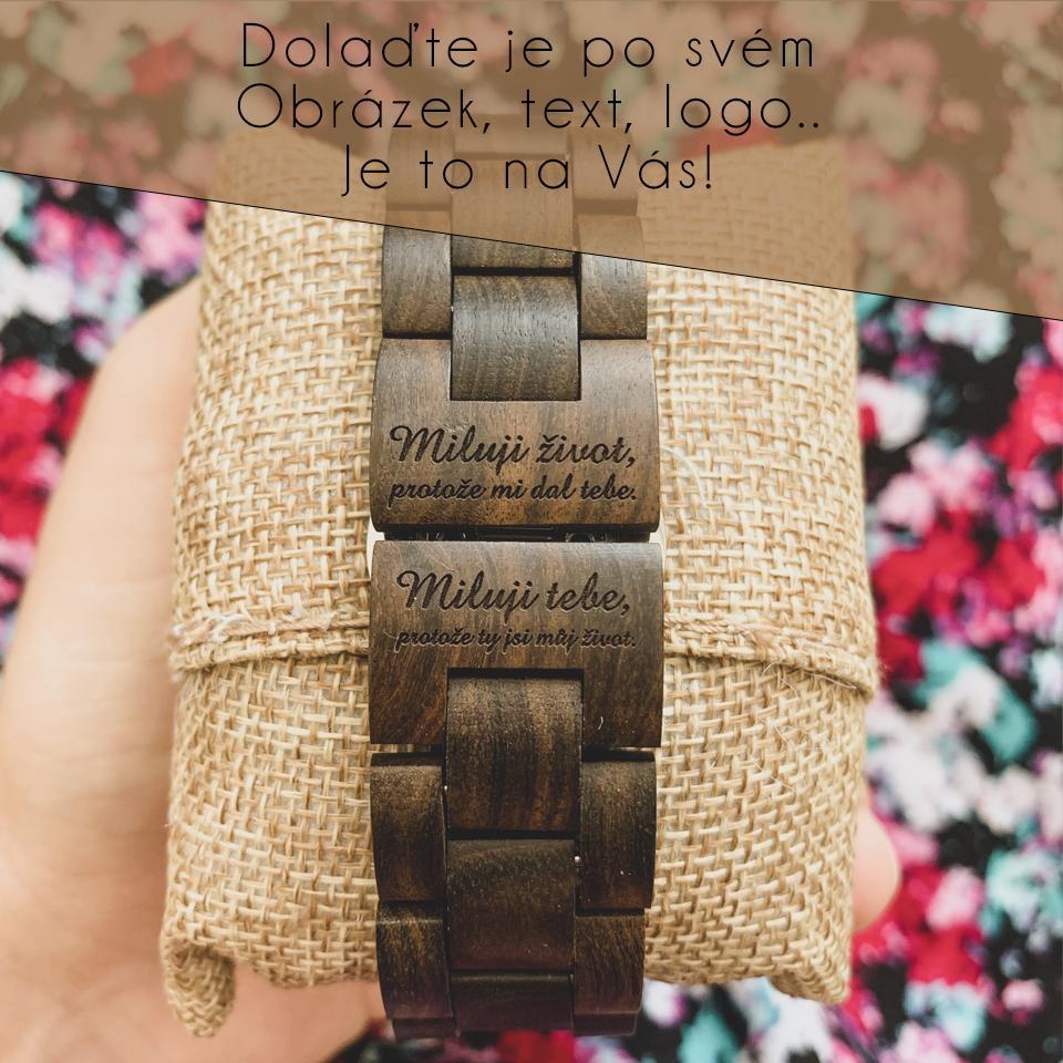 Svatební doplňky - dřevěné hodinky, náramky či brýle s vlastním gravírováním od WoodHood - WoodHood - dřevěné hodinky s vlastním gravírováním