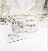 Béžové svatební oznámení - G945,