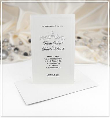 Krémové svatební oznámení - G927A - Obrázek č. 1