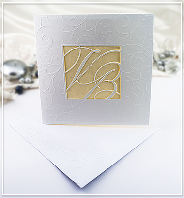 Bílo zlaté SO s monogramem snoubenců - G973 - Obrázek č. 1