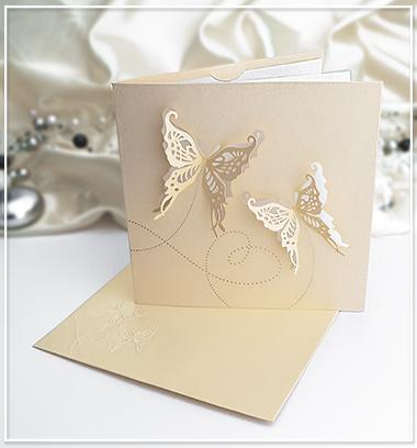 Svatební oznámení se zlatým nádechem - G966 - Obrázek č. 1