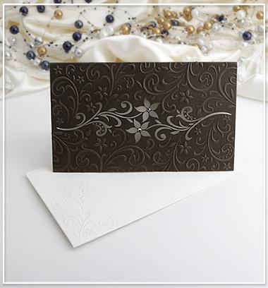 Čokoládově hnědé SO s motivem květin - G910 - Obrázek č. 1