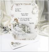 Béžové svatební oznámení ve formátu A4 - G946,