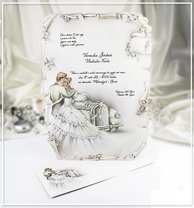 Béžové svatební oznámení ve formátu A4 - G946 - Obrázek č. 1